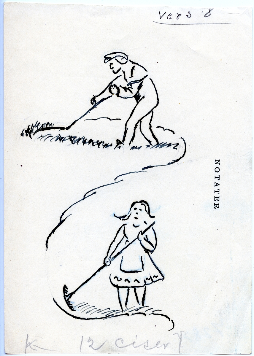 "Originalteikningar til boka ""Telemarksfeet 100 år"" 1956"