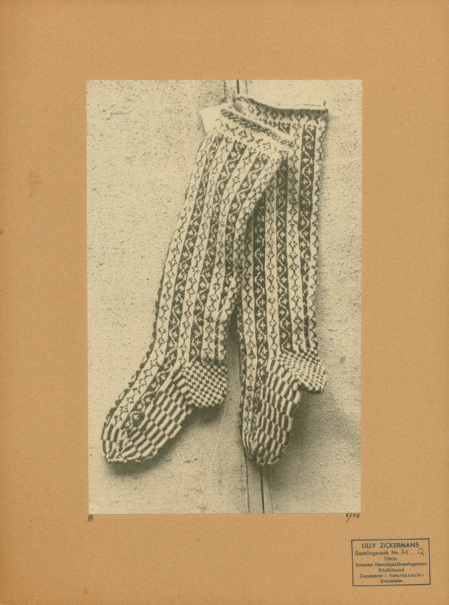 Stickad strumpa