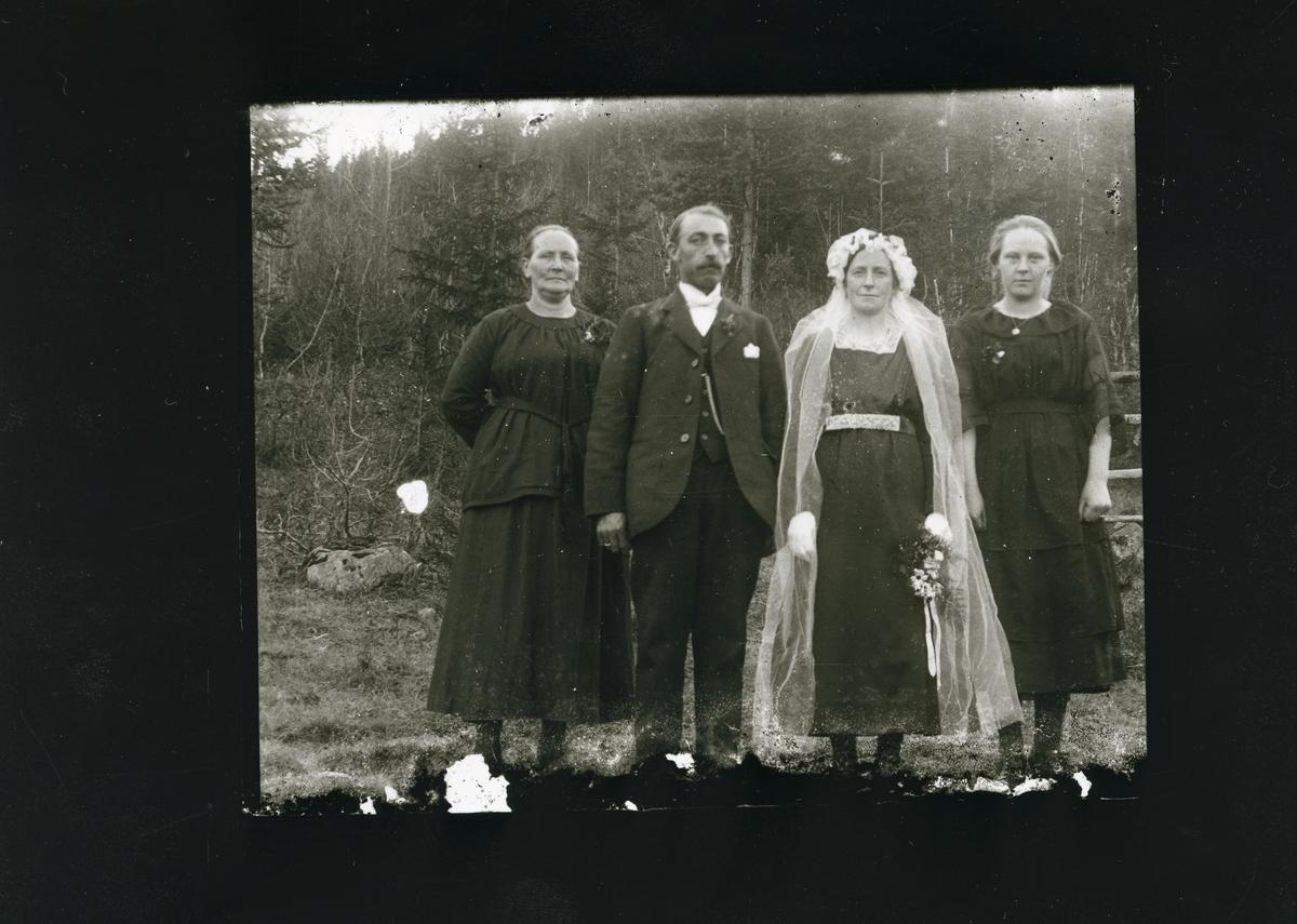 Brudefoto av Guri Sveriplassen og Johan Sveum.