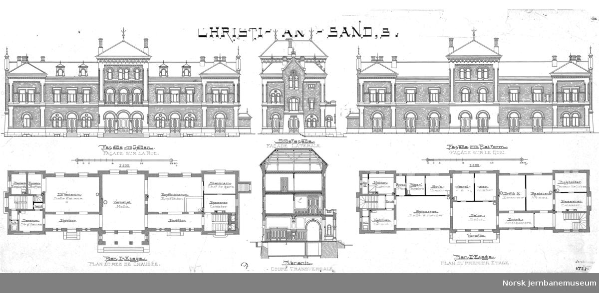 Christiansand, S - Stationsbygning