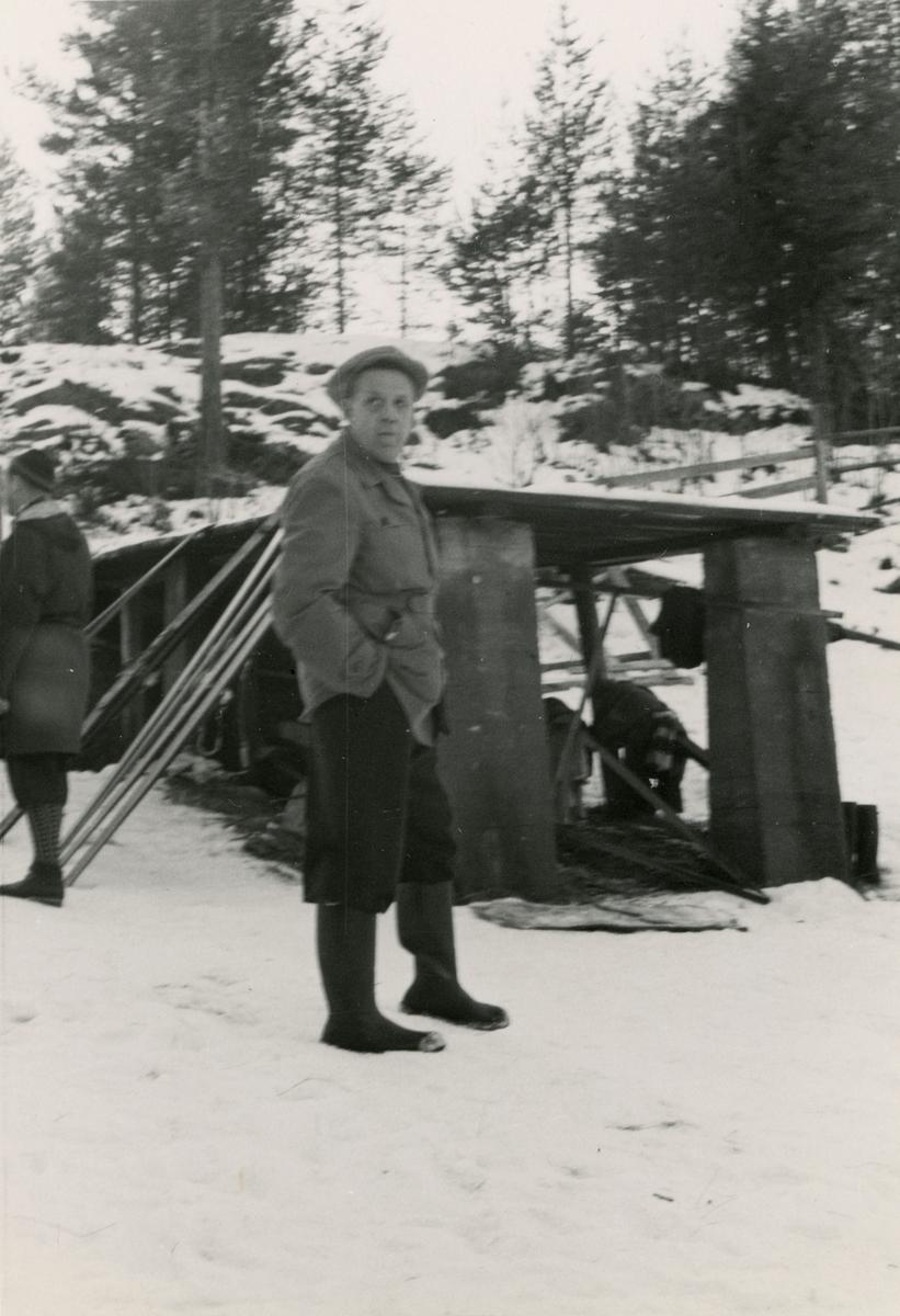 Man at Persløkka ski jump