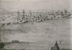 Orginalteckning från Suecia Antiqua, av Dahlberg.
