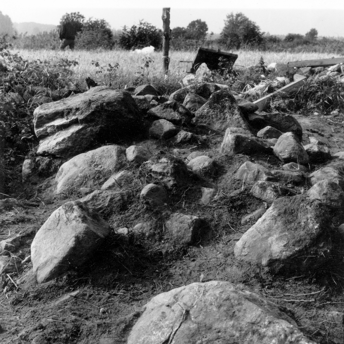 Röse i Ålbo, Hedesunda, Utgrävning i September 1969.