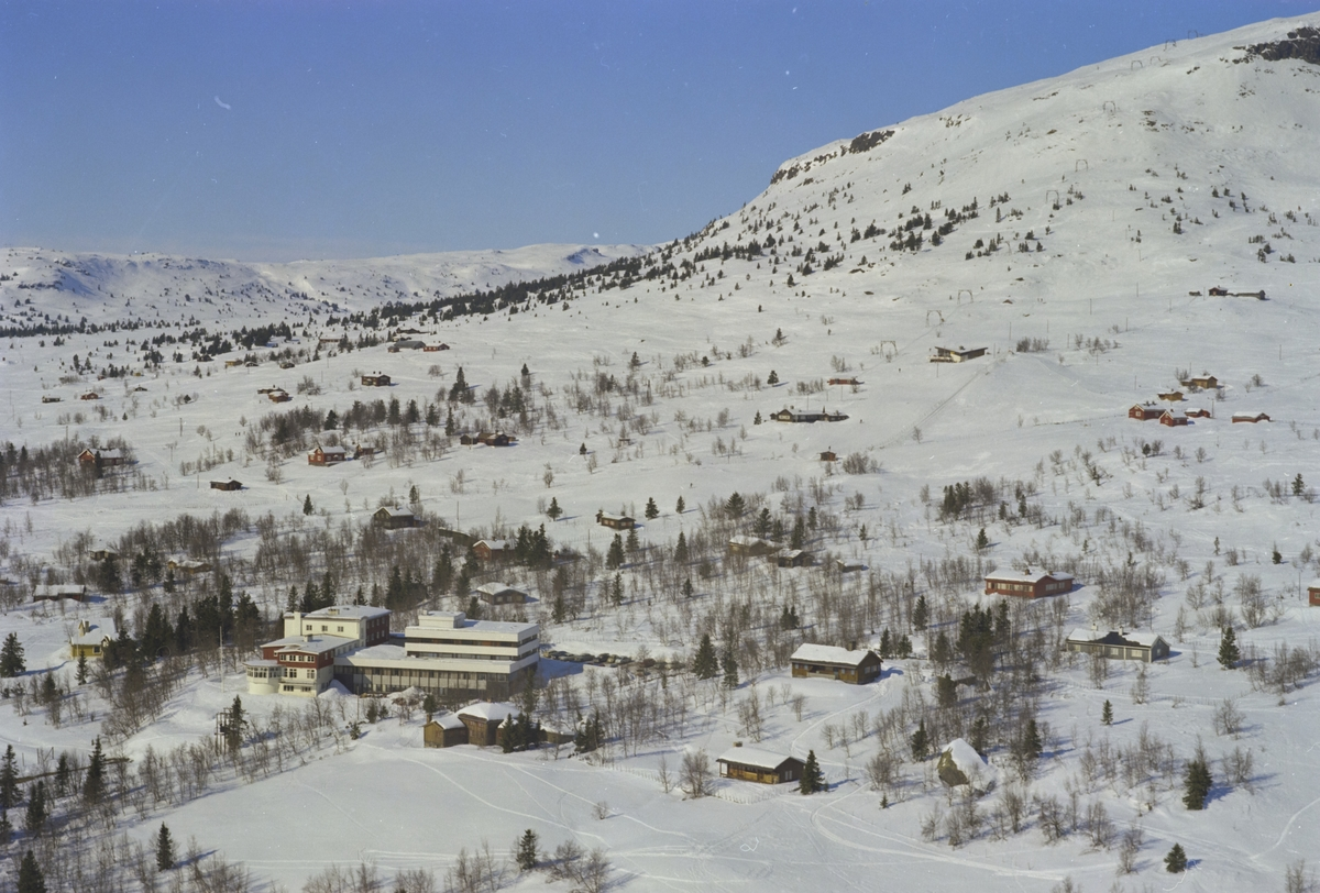 Skeikampen Høyfjellshotell, oversiktsbilde, fjelltopp, skiheis, Skeikampen, Gausdal
