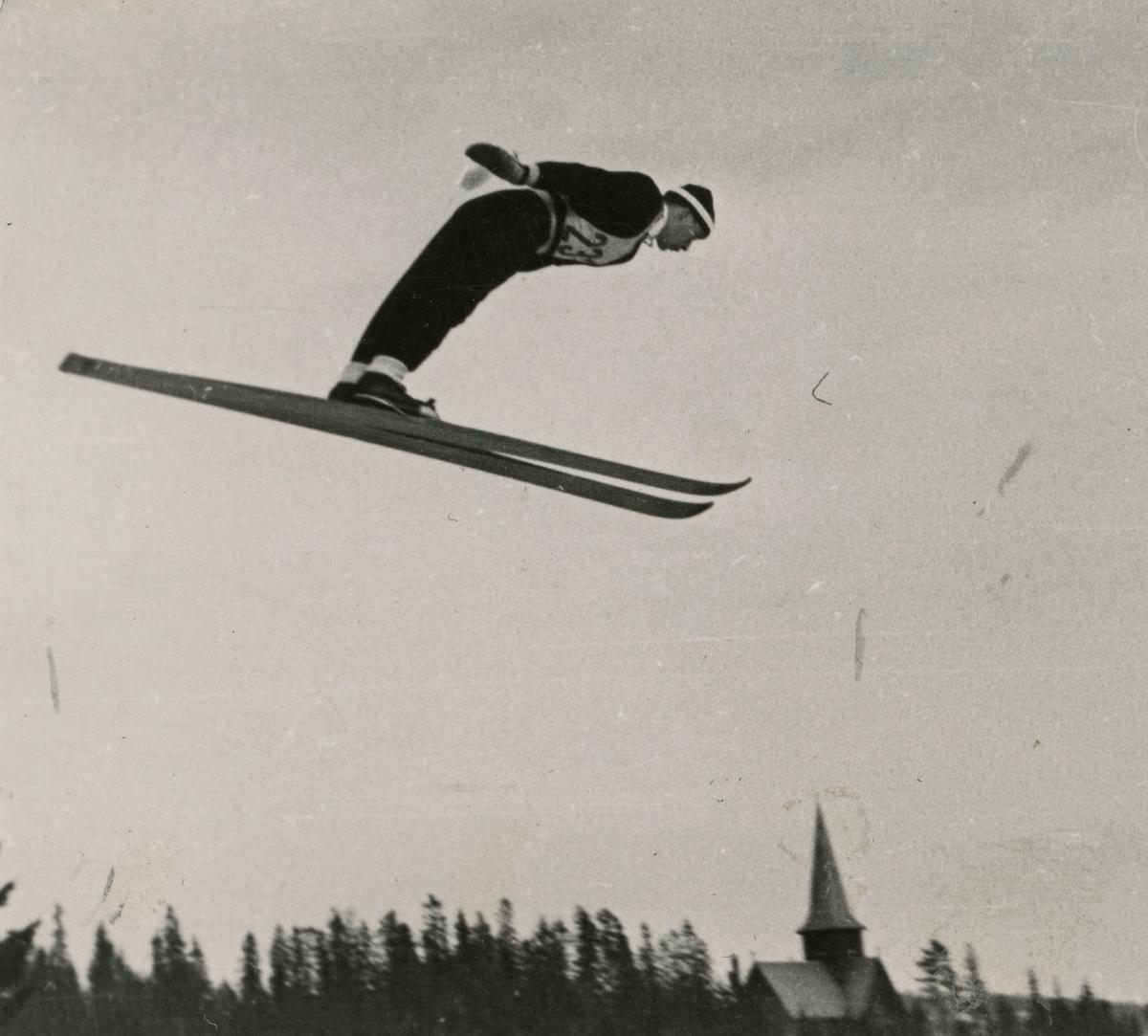 Athlete Sigmund Ruud at Holmenkollen