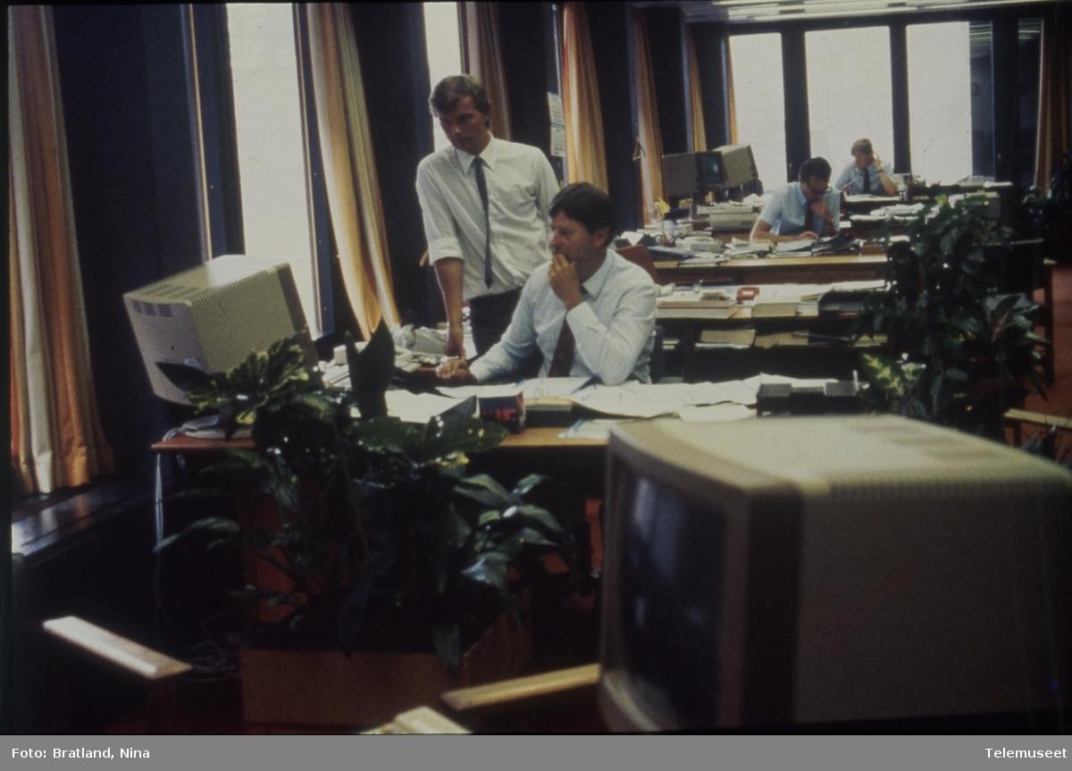 Arbeidssituasjon kontormiljø Norsk Data