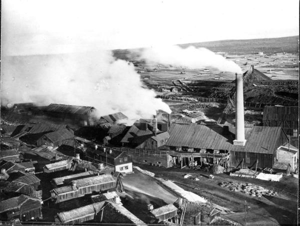 Smelthytta på Røros i 1907 (Foto/Photo)