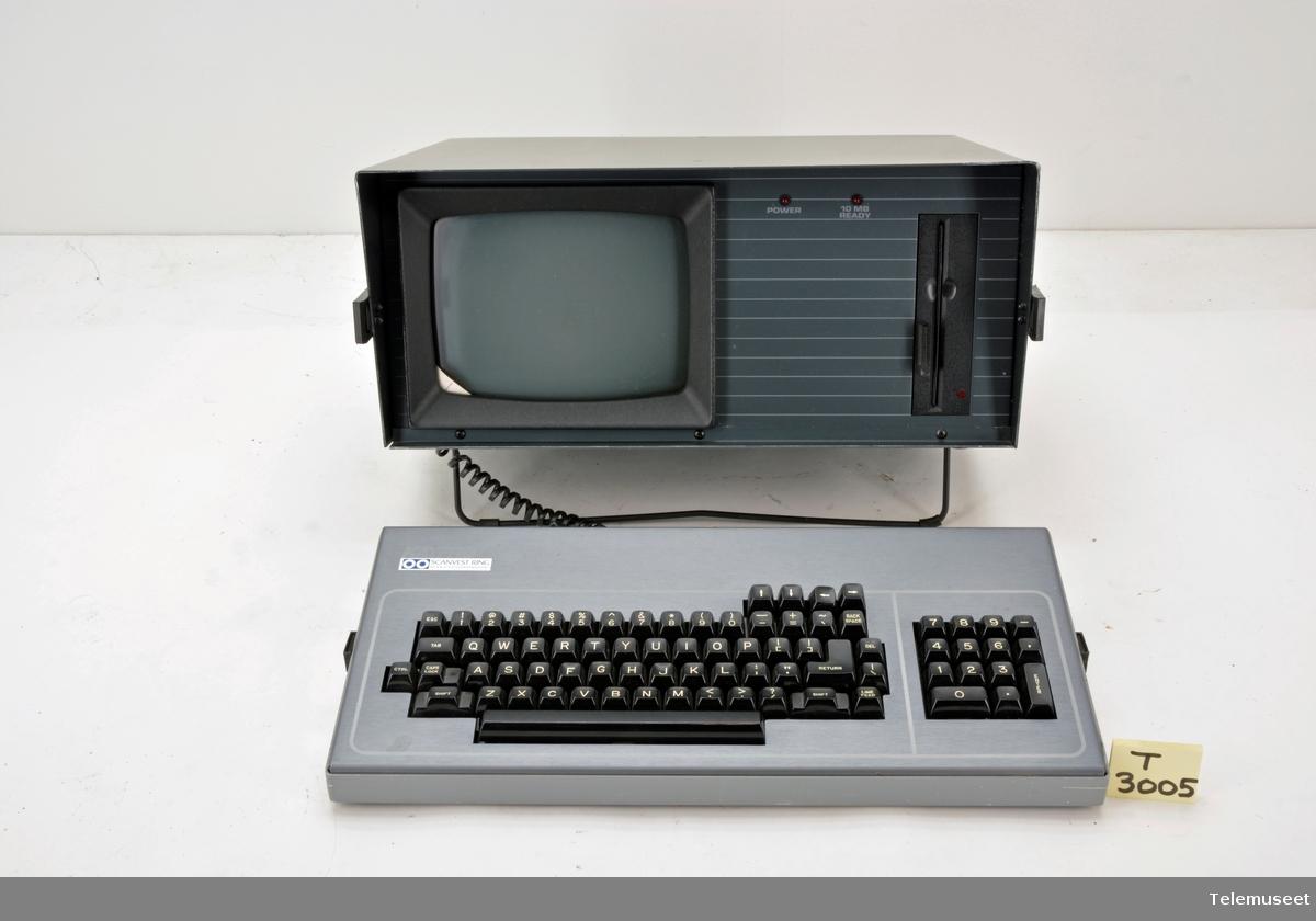 Mod PN81-005 PC med enkel diskettstasjon med tastatur og skjerm