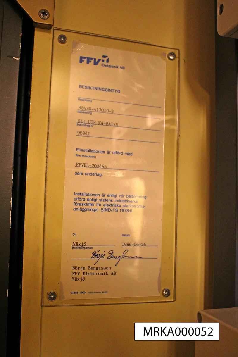 Data: Strika 85 Digital växelstystem Datakommuniktionssystem Kryptosystem Radiostationer Plottingsystem