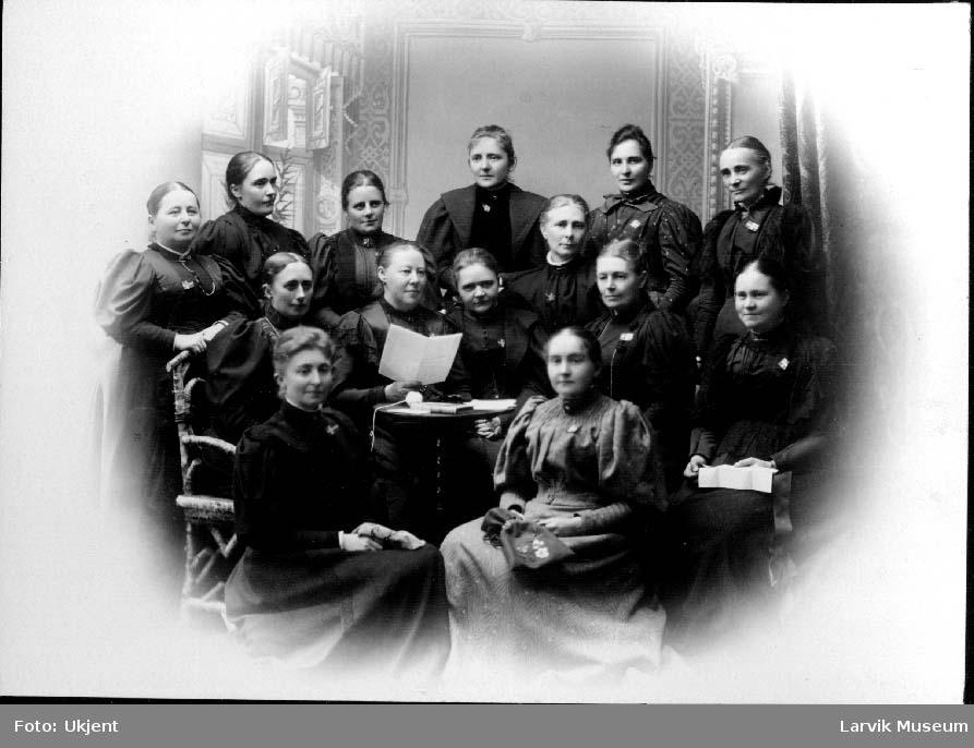 Gruppebilde, kvinner, leseforeningen