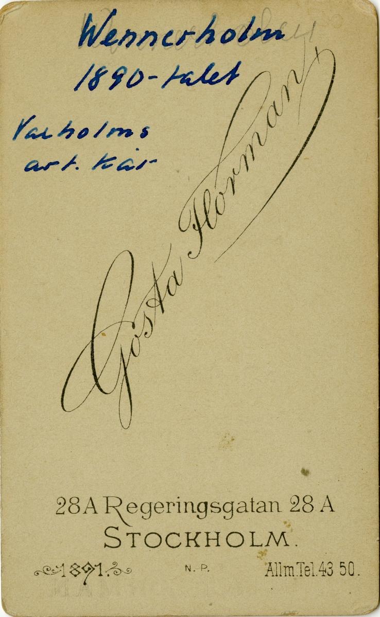 Porträtt av Theodor Hugo Malcolm Abraham Wennerholm, överstelöjtnant vid Vaxholms artillerikår A 5.