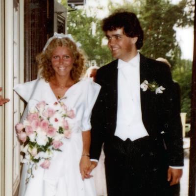 Brudepar på 80-tallet (Foto/Photo)