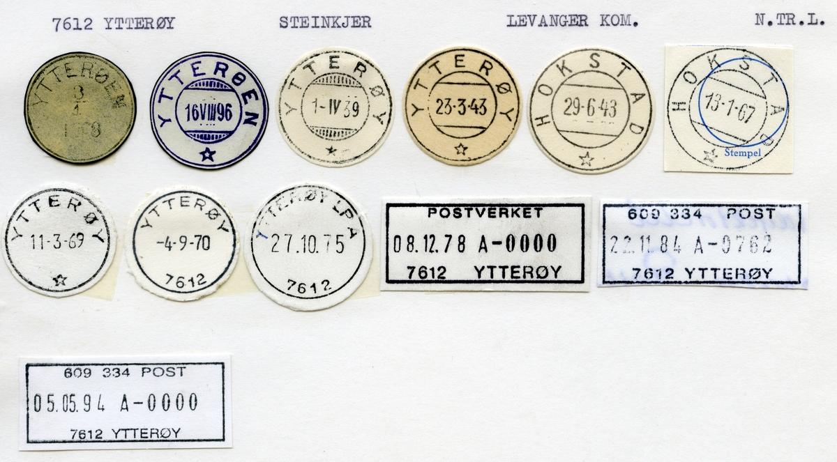 Stempelkatalog  7612 Ytterøy, Levanger kommune,Nord-Trøndelag