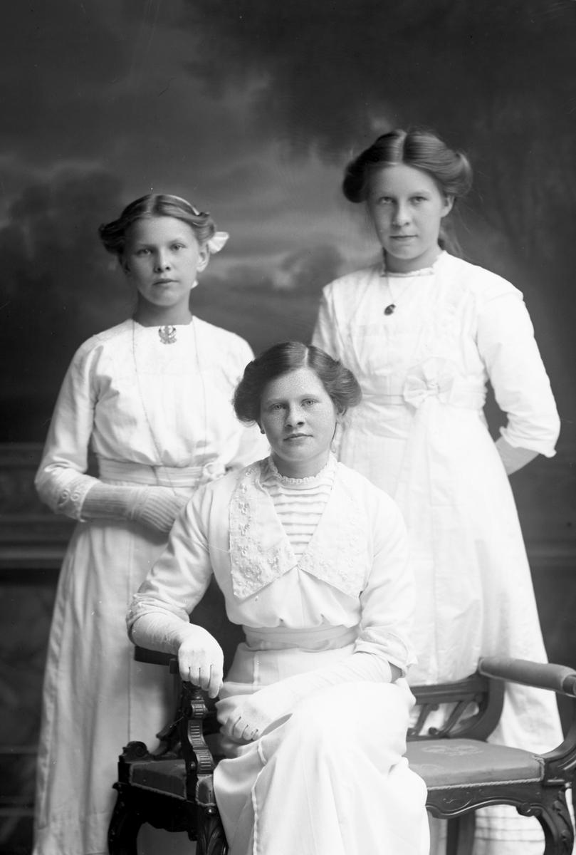Dora Östrand, Hilma Boberg och Agnes Sjökvist, Sikvik, Bomhus