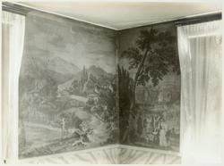Sju fotografier av engelska tapeter från mitten av 1800-tale