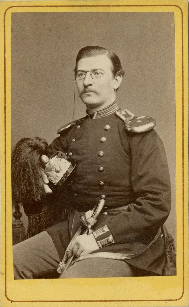 Porträtt av okänd löjtnant vid Södermanlands regemente I 10.