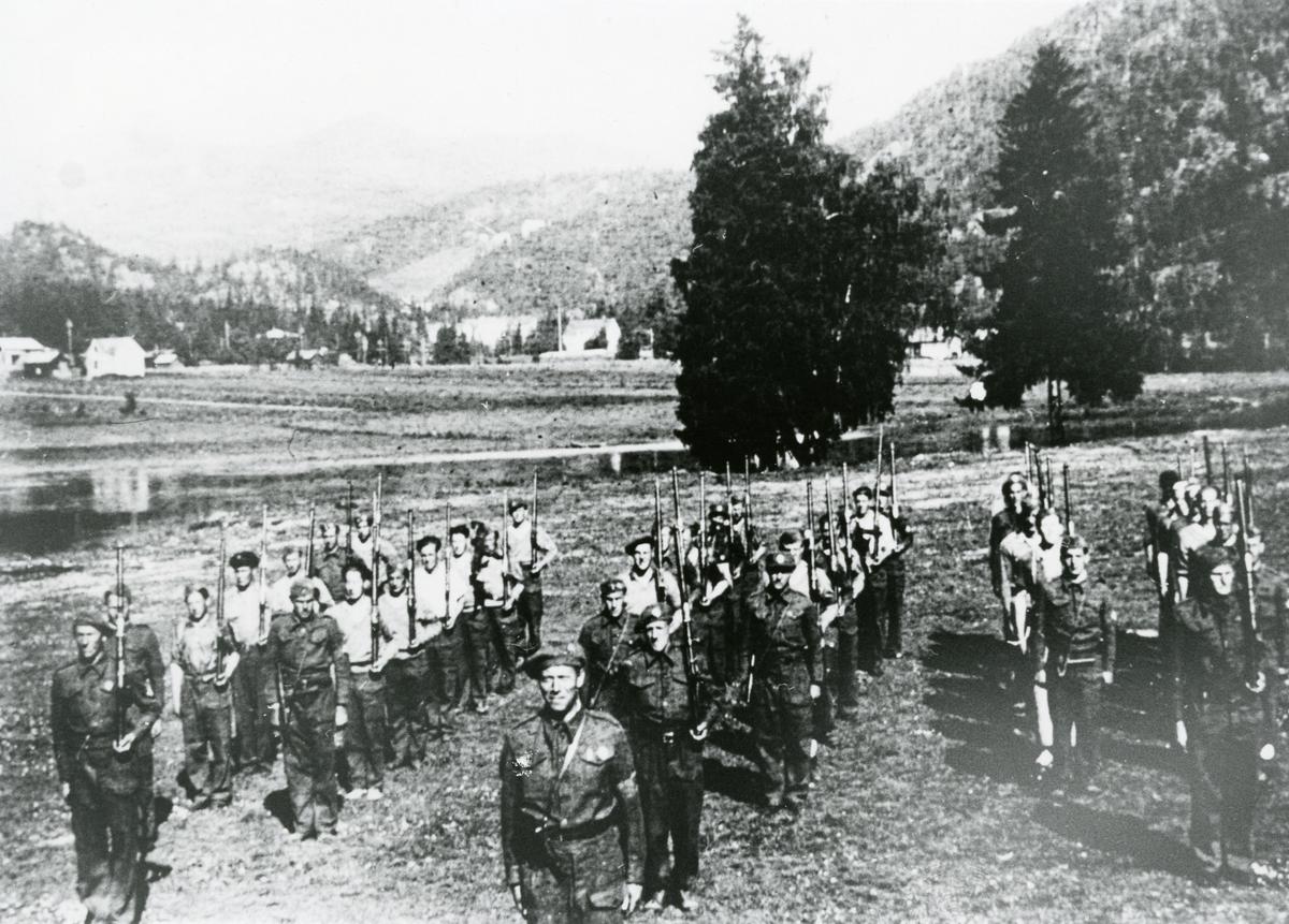 Heimefronten, Heimestyrken oppstilt, mai 1945.