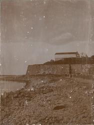 Sommarövningarna i Varberg 1917. Varbergs fästning från söde