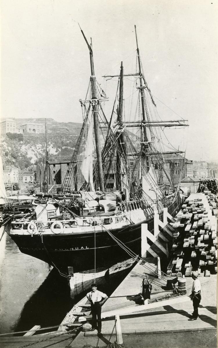 Bark 'Carsten Boe' (ex canadisk 'Hazelhurst')(b.1876, Pickles &  Mills, Annapolis, Nova Scotia, Canada)