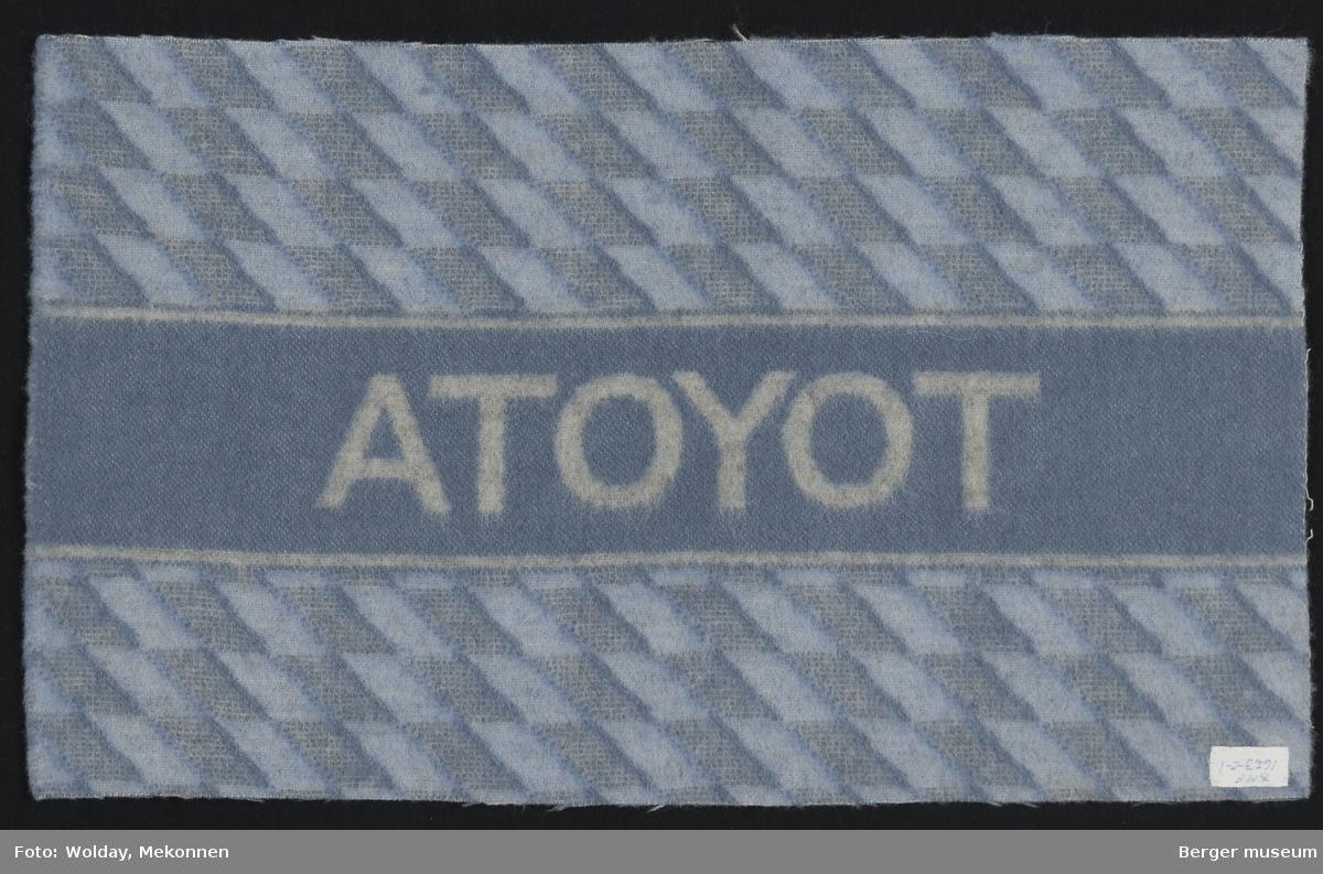 Bilpledd Små romber Logo Toyota