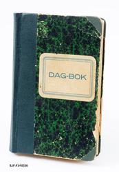 Dagbok for personlige opptegnelser.  Boka har stive papperme