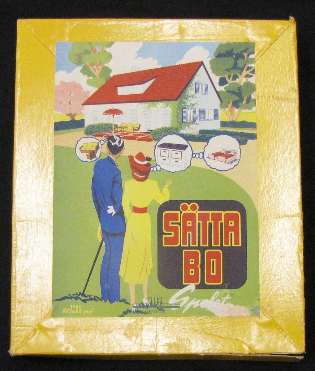 Ett spel, sällskapsspel där man ska skapa ett hem genom att ordna ekonomi och investera i hus och interiörer.