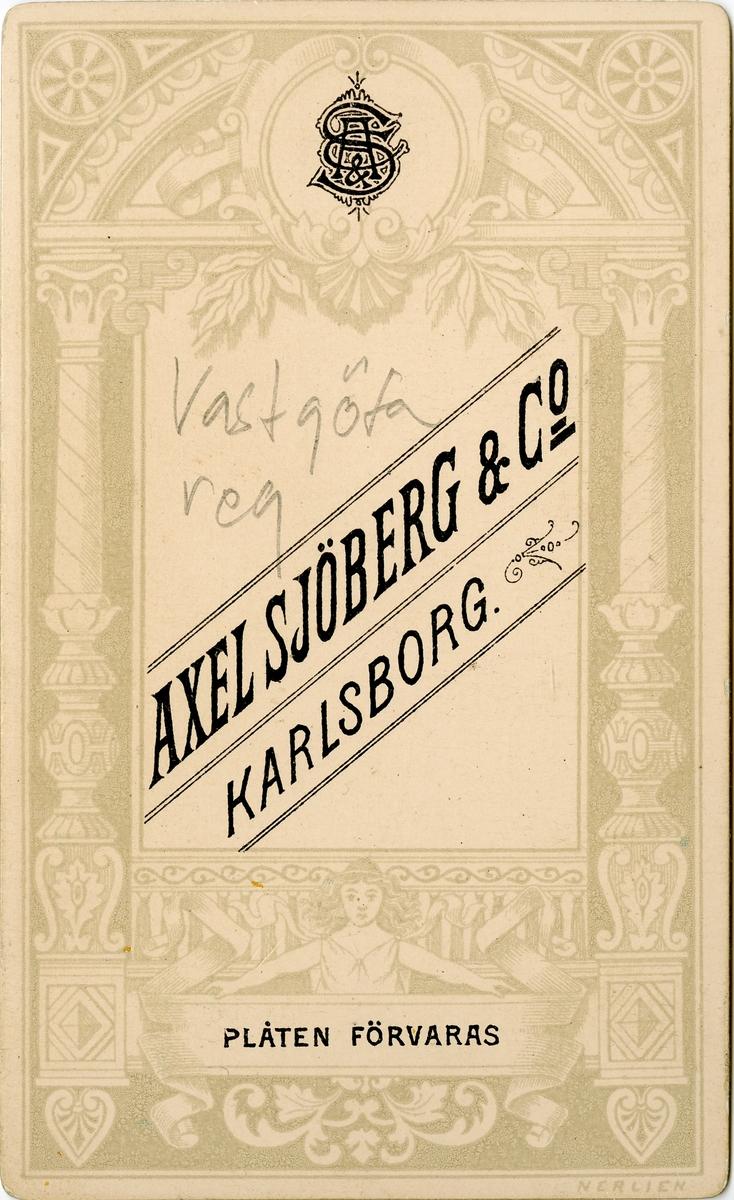 Porträtt av Åke Axelsson Natt och Dag, underlöjtnant vid Västgöta regemente I 6. Se även bild AMA.0008175.
