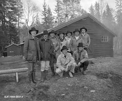 Styret i Klarälvens Flottningsförenings fotografert ved Sten