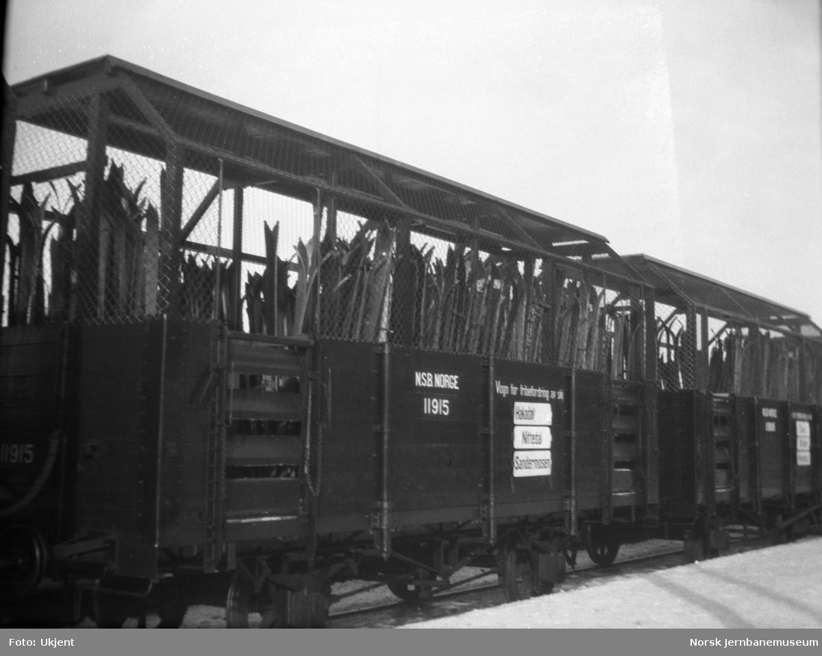 Skivogn på Gjøvikbanen, litra T nr. 11915