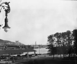 Utstikt fra Østbanestasjonen mot fjorden