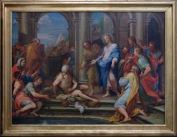 Jesus helbreder en syk ved Betesda dam [Oljemaleri]