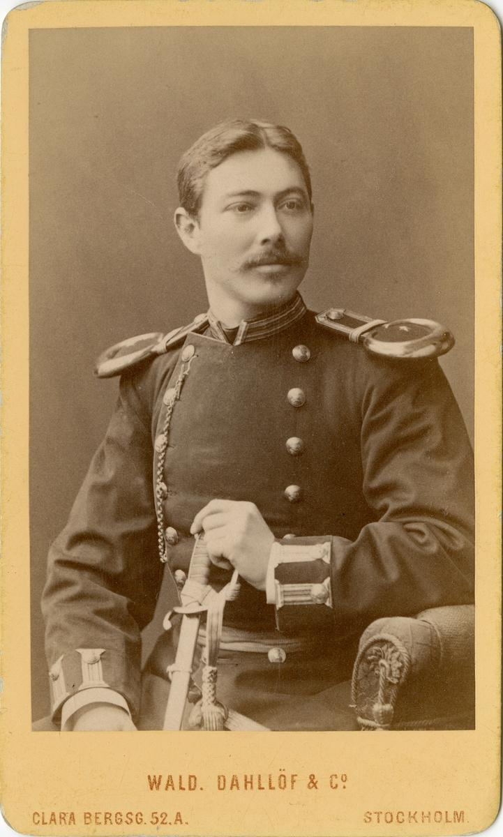Porträtt av okänd undrelöjtnant vid Norra skånska infanteriregementet I 24.