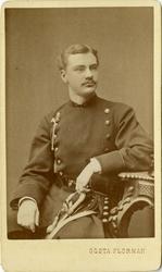 Porträtt av okänd underlöjtnant vid Jönköpings regemente I 1