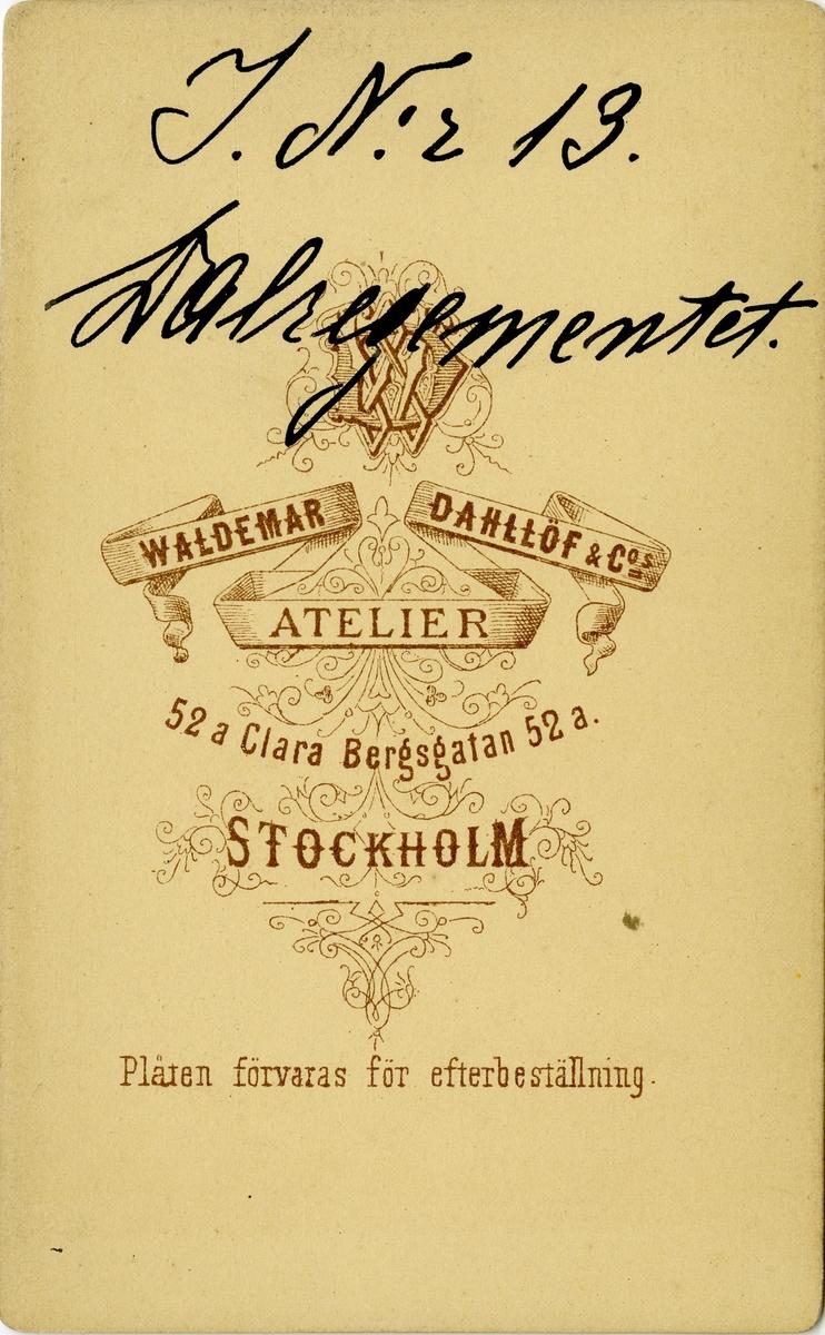 Porträtt av Sigurd Ericson, kapten vid Dalregementet I 13.  Se även bild AMA.0007194 och AMA.0021739.