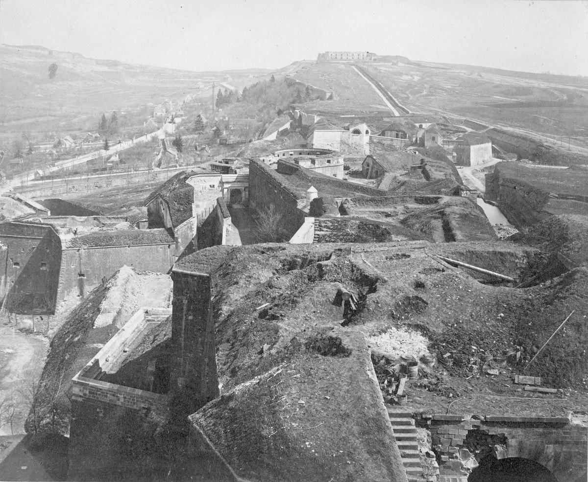 Fästningen Belfort i Frankrike