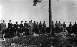 Skjutning på sjön Tärnet, Hammarnäset år 1915. Ev. Karlsborg