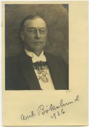 Porträtt av landskamrer Axel Bökelund 1926.