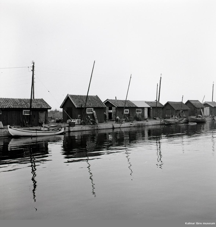 Vy över Revsuddens hamn.