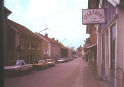 Småland Vimmerby stad Maj 1985  Storgatan