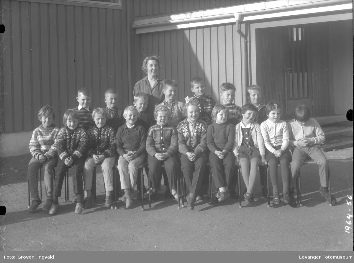 Skolebilde fra folkeskole, Røra skole.