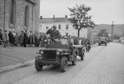 Luftvernartelleriets parade foran Frue Kirke