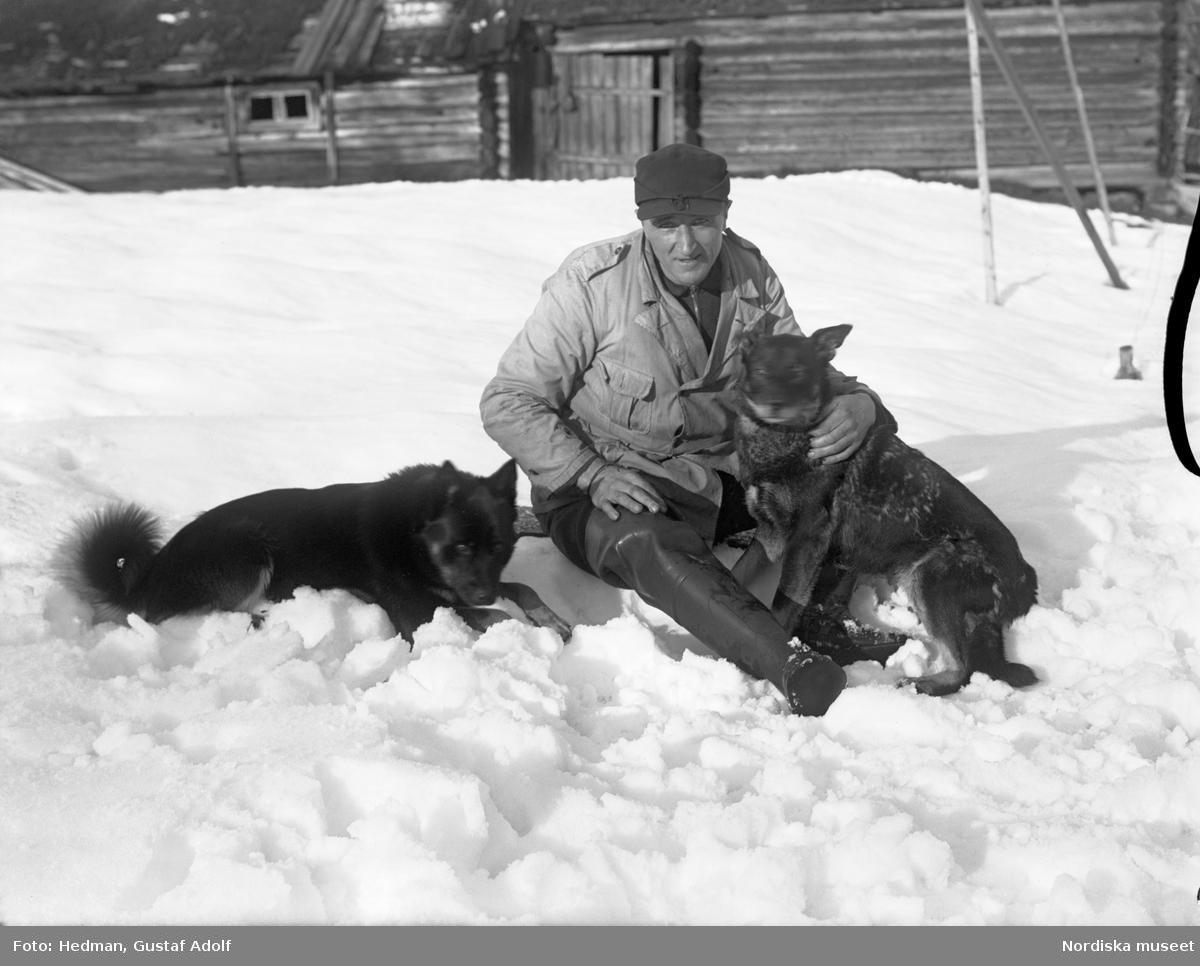 Oskar Steen, Södra Brändan med hundarna ute i snön