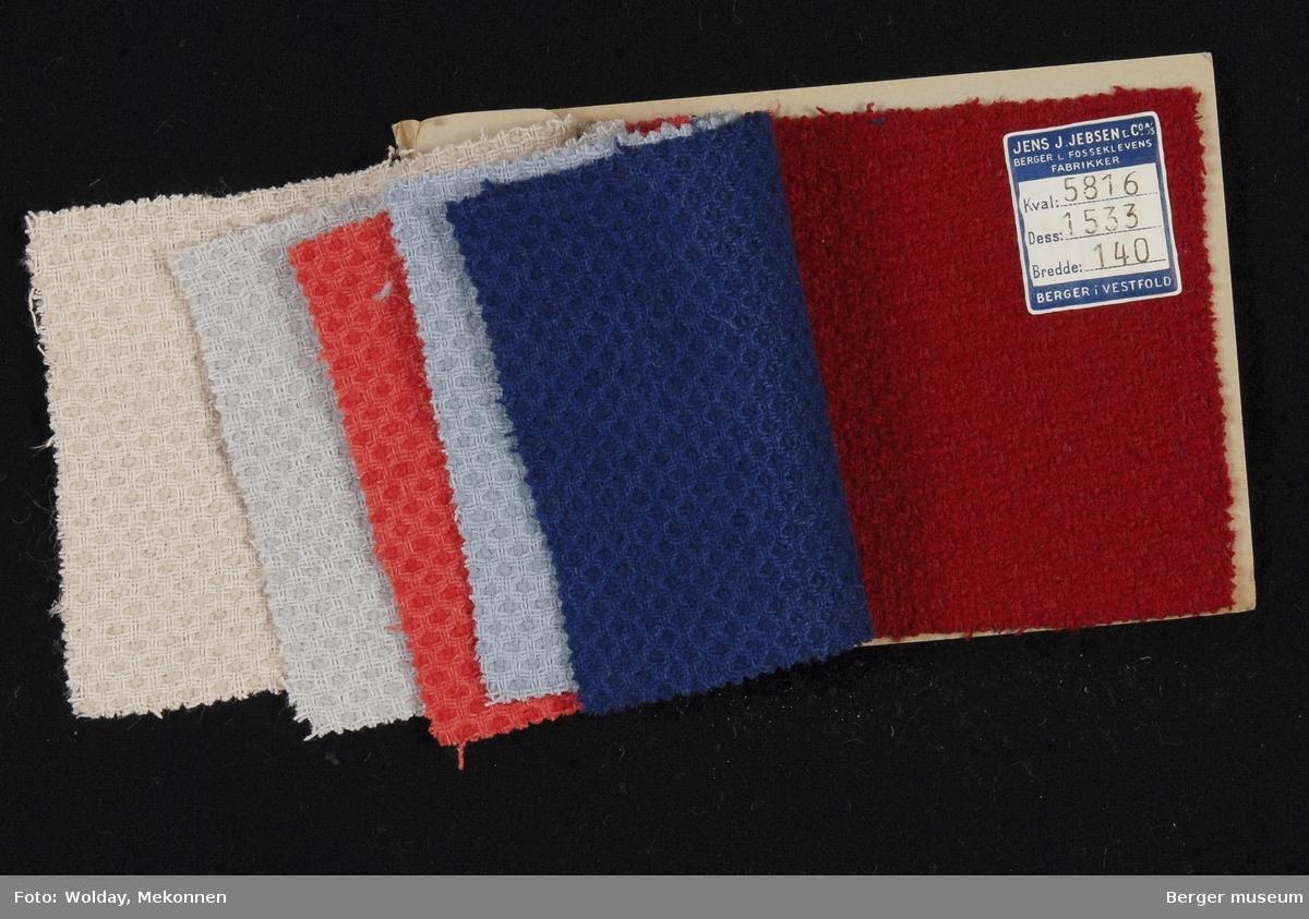 Prøvehefte med 6 prøver Drakt/kåpe Kvalitet 5816 Stykkfarget
