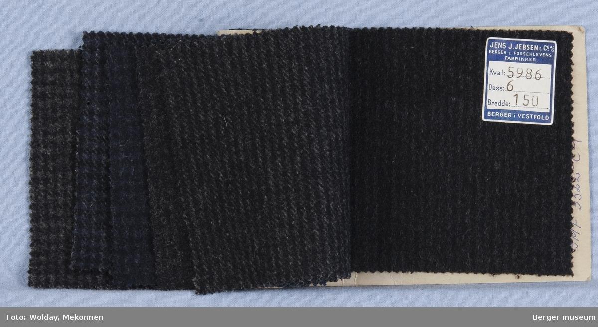 Prøvehefte med 6 prøver Frakk Kvalitet 5986 Melert