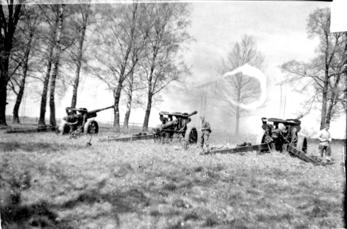 Kanon m/1934. 10,5 cm. Grundvärdesskjutningar, A 6.