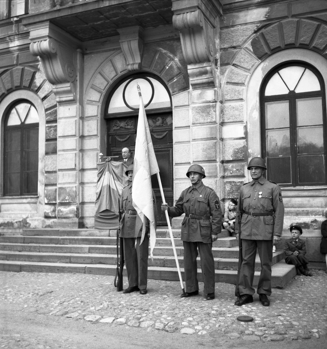 Hemvärnet femårs-jubileum. 1945
