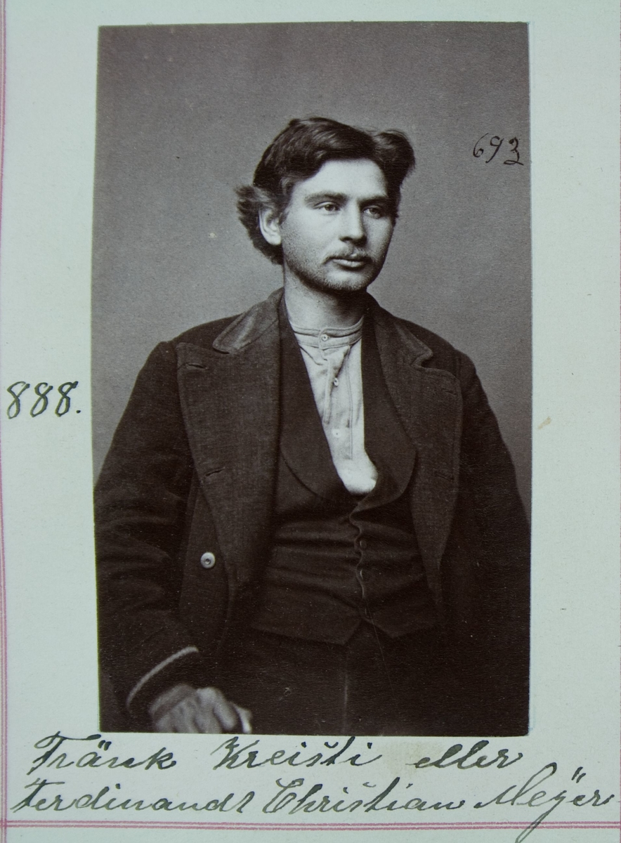 Fangeportrett, Fränk Kreisti eller Ferdinandt Christian Meyer