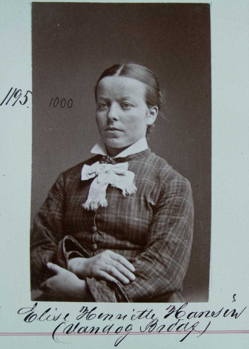 Fangeportrett, Elise Henriette Hansen