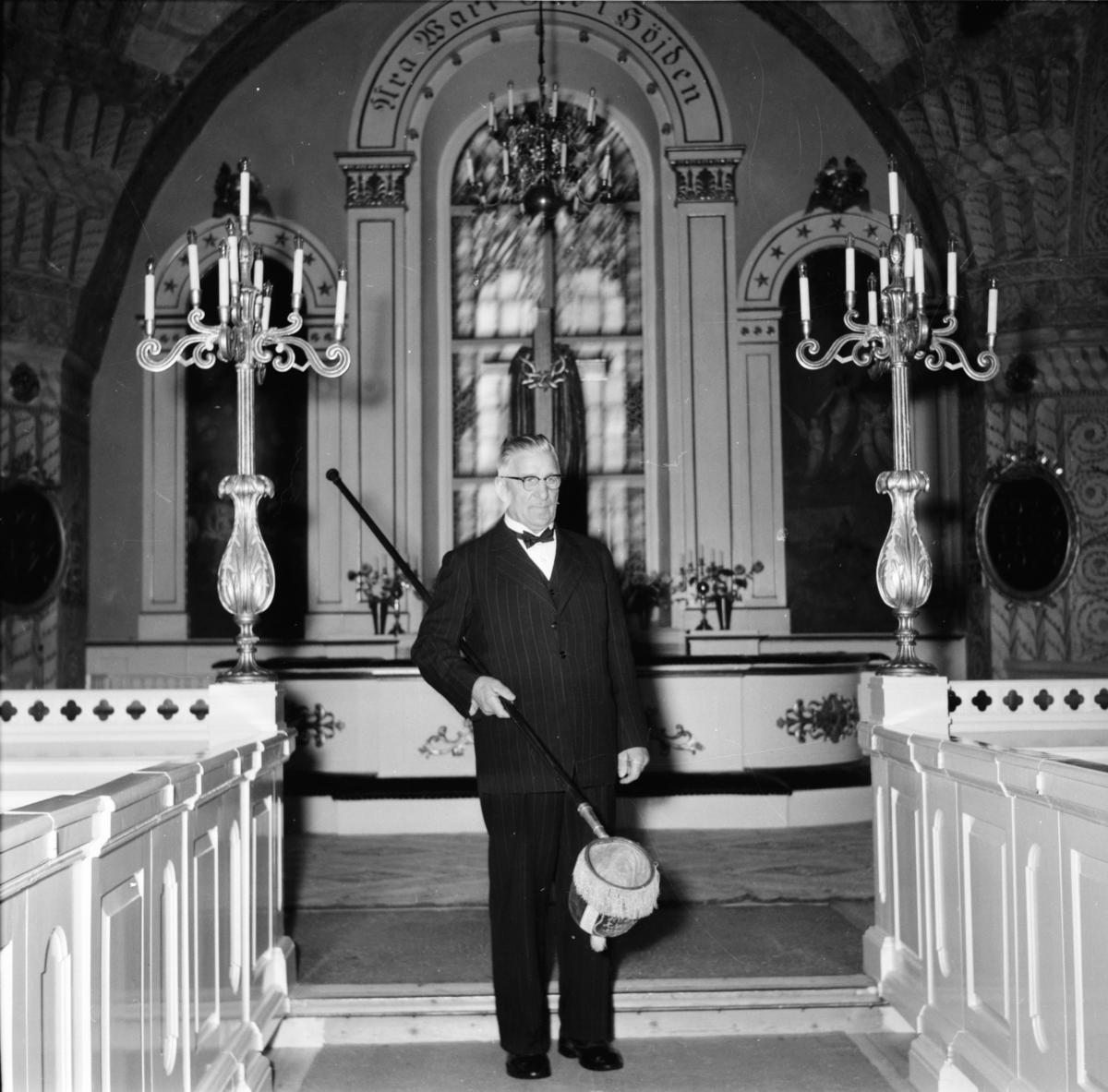Kyrkvaktmästare Lars Roos Arbrå