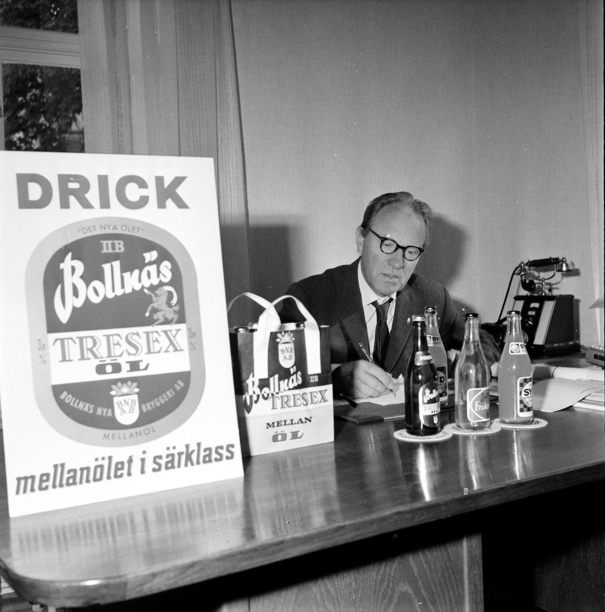 Bollnäs Bryggeri, Inför mellanölspremiären 1 Oktober 1965, 22 September 1965